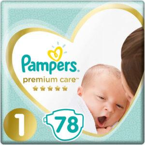 Pampers Premium Care 1 NEWBORN 2-5 kg 78 ks pleny pro dítě