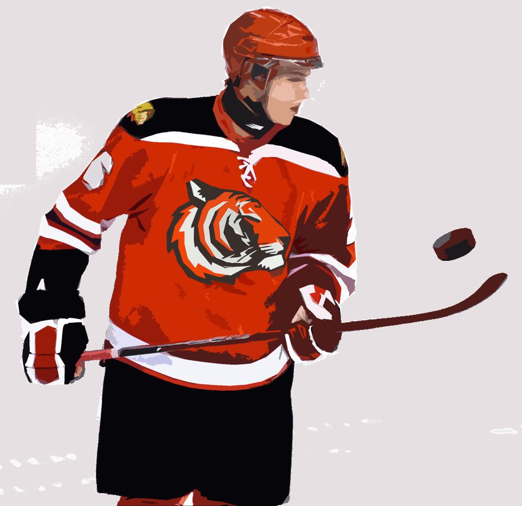Stolní hokej hráč