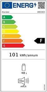 Energetický štítek - minibary